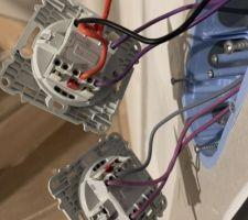 Changement du placement des fils, 3 lampes mal placées.