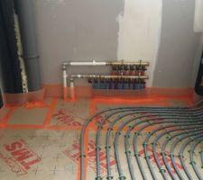 Plancher chauffant - cellier 2