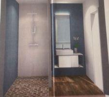 Visuel de la salle de bain de la suite parentale