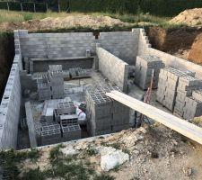 Élévation murs sous-sol, (tout se passe au top pour le moment)
