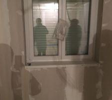 Pose des tablettes de fenêtres
