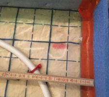Pose du plancher chauffant esaclier