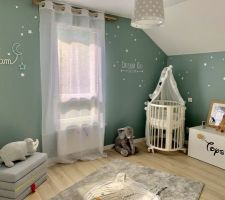 Chambre de notre bébé - coin berceau