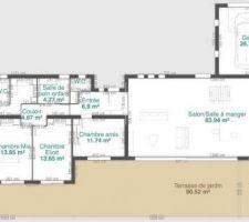 Nouveau plan intérieur + terrasse