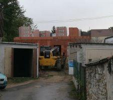 Préparation élévation des murs - étage