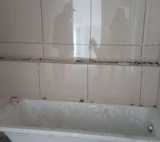 Faïence douche salle de bain enfants