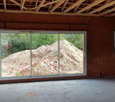 Vue interne de la baie vitrée