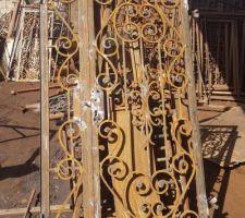 Fabrication des grilles de protections pour les portes fenêtres.