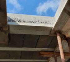 Dalles des toits terrasse coulées