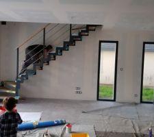 Installation escalier