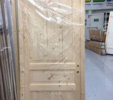 Porte en pin à peindre