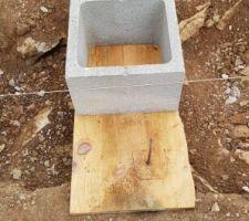 Feraille matérialisant la sortie des gaines électriques