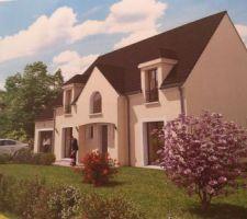 Image de synthèse de la futur maison