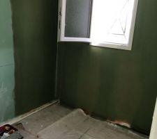 Préparation salle de bain étage avant pose faïence par nous même