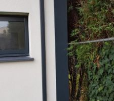 APRES : Bardage de l'angle entre le mur ossature bois et le mur parpaing