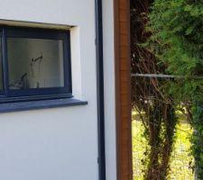 AVANT : Bardage de l'angle entre le mur ossature bois et le mur parpaing