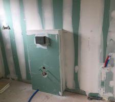 Plomberie électrique wc suspendu