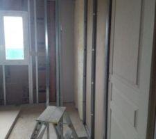 Placo jour 4: Chambre 1 armoire encastrée