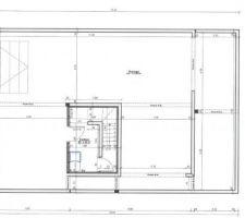 Plan du sous sol. Prolongation sous terrasse.