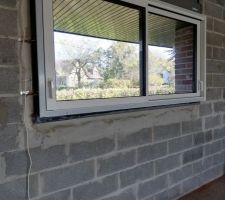 La fenêtre de la salle de jeu / chambre d'amie au rdc. Avec un aperçu de la vue avant de la maison.