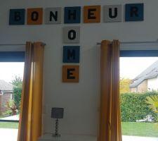 Scrabble maison pour habiller le mur