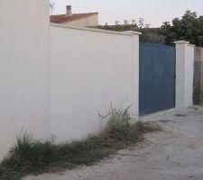 Crépi Mur cloture