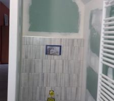 Salle de bains étage carrelée