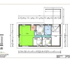 Plan de la maison de plain pied