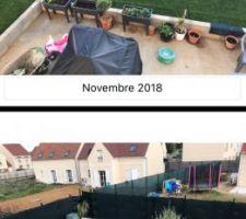 Le gazon un an après