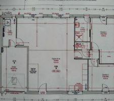 Plan final déposé pour le permis de construire.