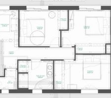 Notre Andernosienne: 1er 3ch + espace jeux + salle de bain + wc independants