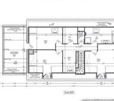 1ère version plans CID sur terrain de Cormery (Etage)