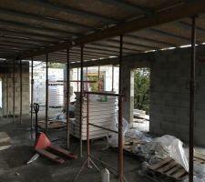 La toiture terrasse en cours de pose