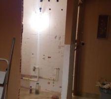 Création nouvelle entrée salle de bain