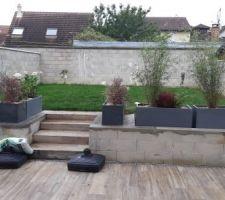 Installation jardinières