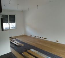 Réalisation tapis carreaux de ciment et pose parquet Panaget RDC