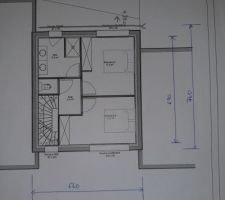 Plan étage avec mesures