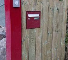 Installation de la boite à lettres