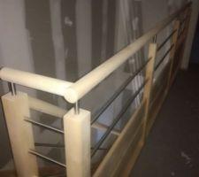 Rambarde escalier couloir de l'étage