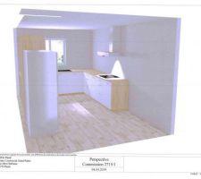 Vue 3D de la future cuisine