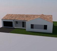 Vue 3D de notre future maison