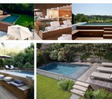 Inspirations piscine semi-enterrée sur terrain en pente et son environnement PINTEREST