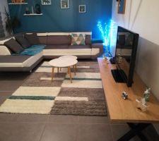 Nouvelle disposition salon, nouveau tapis et meuble tv