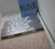 Stockage du parquet chambre 3