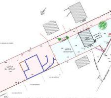Plan + implantation maison