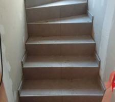 Carrelage escalier Stone focus contract, couleur tortora, Ceramiche Piemme en 60x60cm rectifié