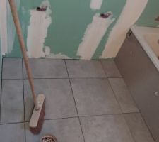 Carrelage salle de bains 1er étage Concrete Light Grey nat 45 x 45 cm, Ceramiche Piemme