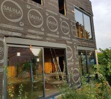 Installation des baies vitrées