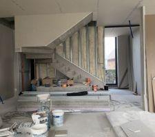 Vue escalier depuis salon