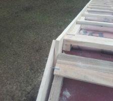 Prêt pour la délicate coupe des rives au faîtage